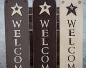 Wooden Welcome Sign With Stars