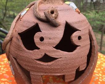 Votive Jack O Lantern with Candy Corn