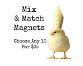 Chicks in Hats Chickens Hats Baby Animal Magnets (10) You Choose!