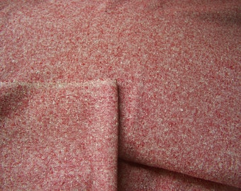 Raw Silk Fabric Yardage  over 9 yards - Red, New and Never Used