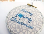 SHOP CLOSING SALE - Merry F'ing Christmas Embroidery Christmas Ornament Hoop Art - Funny Anti-Christmas Ornament Embroidery Hoop - Matu