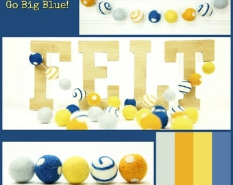 Felt Balls // DIY Garland // DIY Mobile // Go Big Blue Ball Mixed Set // 2.5 cm // 25 Count