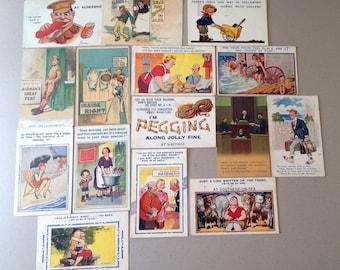 Antique Postcards, WW I, Humourous Postcard, McGill, Bamforth, Seaside Comic Series, Wartime, Funny Postcards, RPPC, Saucy English Postcards