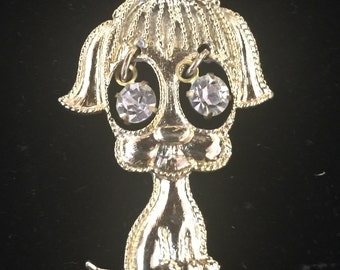 Goldtone Dog Pendant