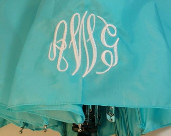 Personalized Monogramed Aqua Umbrella, your font choice