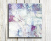 Purple Abstract art print on canvas - housewarming gift