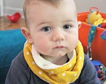 golden cross loop  scarf Baby drool Bib