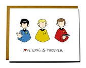 Star Trek Valentine, Funny, Geeky Valentine's Day card, Live Long and Prosper