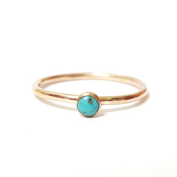 Mini Gemstone Gold Stacking Ring, Onyx, Turquoise, Pyrite, Moonstone, 14k Gold Filled, Midi Ring, Small Stone, Dainty Ring, Mothers Day Gift