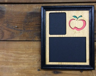 8x10 Personalized Teacher Picture Frame, School Picture Frame, Teacher Gift, Apple Picture Frame, Laser Engraved Frame