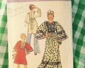 vintage pattern caftan tunic dress 1970s simplicity 5976