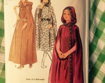 vintage pattern simplicity 9614 wrap cape w hood
