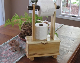 Toilet paper stand, fliptop, compact for small space