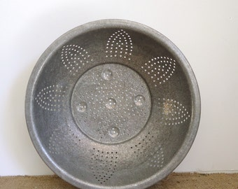 Farmhouse kitchen decor, vintage kitchen strainer, colander, retro kitchenware