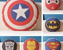 marvel Pillow Case,  cartoon Pillow Cover, marvel Throw Pillow, Hero Pillow , superheros, Minions,Transformers Pillow