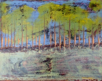 "ORiGiNAL ""Global Trees  ABSTRACT""  - ORIGINAL Acrylic Paint on canvas    18"" X 24"""