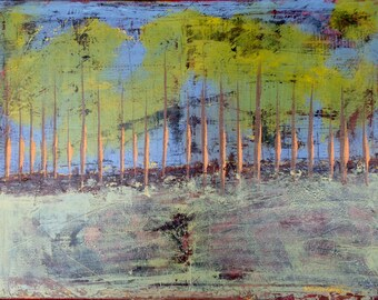 """ORiGiNAL """"Global Trees  ABSTRACT""""  - ORIGINAL Acrylic Paint on canvas    18"""" X 24"""" - (17-4250)"""