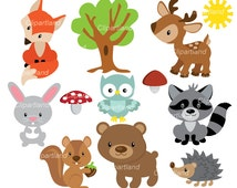INSTANT Download CFOR_44_forest. Forest friends. Personal and commercial use.
