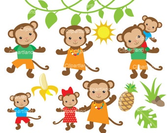 ON SALE ON Sale Instant Download. Monkeys clip art. CM_15. Personal and commercial use.