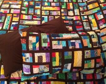 Custom Mosaic Quilt Pillow Shams