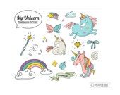 Unicorn Temporary Tattoo pack-