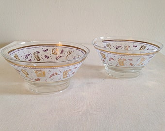 Fun Atomic Mid Century Snack Bowls Set of 2