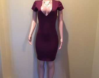 Deep Plum Knit Dress