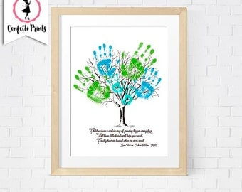 Mother's Day / Father's Day Poster - CHILD'S HANDPRINT TREE Printable