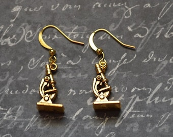 Biolojewelry - Microscope Science Biology Earrings