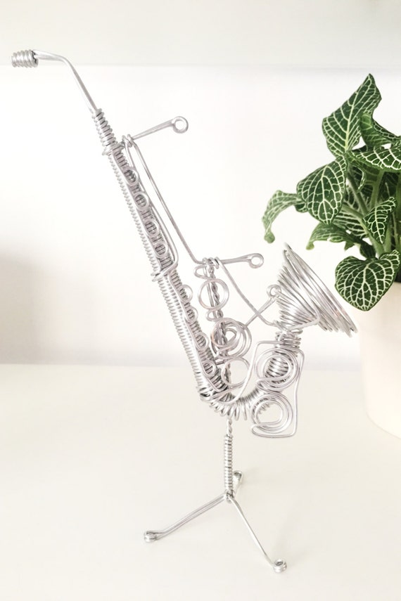 Wire Sculpture Saxophone