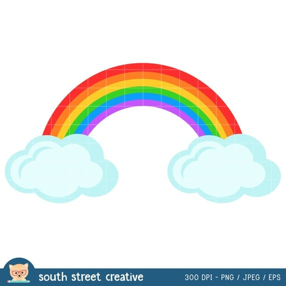 clipart rainbow with clouds - photo #49
