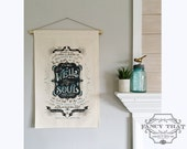 It Is Well with my Soul - Hymn Art, Canvas Wall Hanging Banner