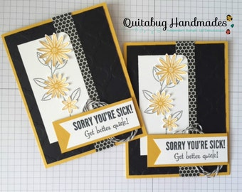 Stampin' Up! Get Well Card/Thinking of You Card- Grateful Bunch/Fabulous Four- Floral Get Better Quick