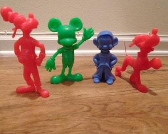 4 Disney Marx Plastic Figure Lot