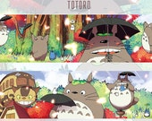1 Roll of Limited Edition Japan amine My Neighbor Totoro and Cat Bus Washi tape
