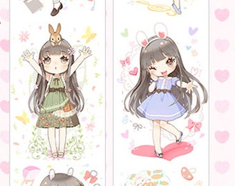 1 Roll of Limited Edition Washi Tape:  Cute Rabbit Girls