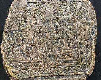 Lehi's Dream Tree of Life - Mayan Art Statute 12.5 x12 x 1.5 inches Replica
