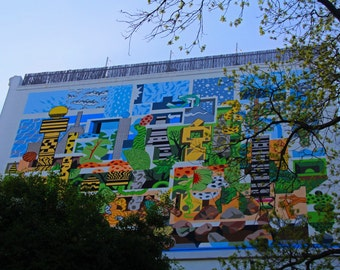 A Mural on the San Antonio Riverwalk (FREE shipping in the U.S. only)