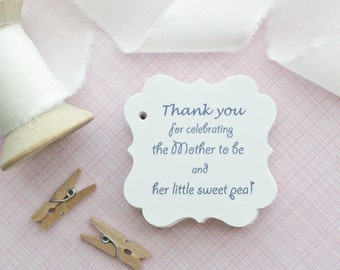 baby shower gift tagsbaby shower paper goodsthank you tags sweet pea favor favor tagsgift tagsset of 40