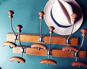 Pair   French 3 hook coat racks