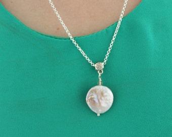 Baroque Pearl Drop Pendant