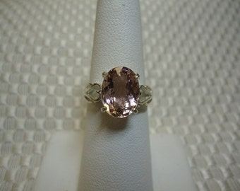 Oval Cut Pink Tourmaline Ring in Sterling Silver   #1643
