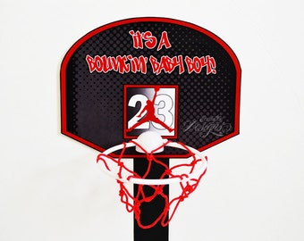 Air Jordan Party Basketball Rim Centerpiece   You Print   Jumpman Party |  Jumpman Baby Shower