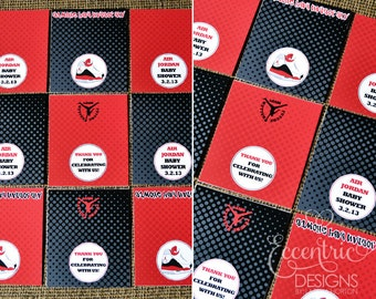 Set Of 6 Air Jordan Party Candy Bar Wrappers   You Print   | Jumpman Baby