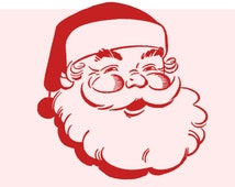 Santa Face SVG File Instant Download Cutting Machine File Png Dxf Files Included