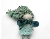 Tiny Doll, Blue Green Mini Fairy Doll