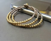 Triple  Knot  Brass Bracelet
