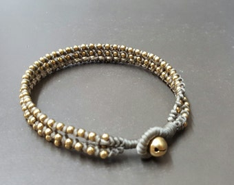 Triple Stand  Brass  Anklet
