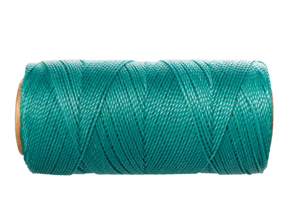 Turquoise Macrame Cord 15 meters/16 yards - Waxed Thread - Linhasita Cord for Jewelry