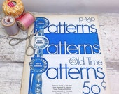 ON SALE Vintage Book-Blue Ribbon Crochet Patterns P160